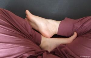 スカアーサナ 足のアップ