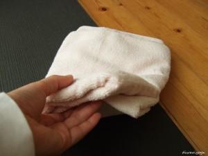 タオルを折ったところ